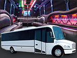 White Chicago Party Limo Bus